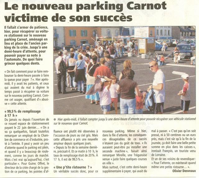 Les derni res heures du parking de la cri e de concarneau - Point p concarneau ...