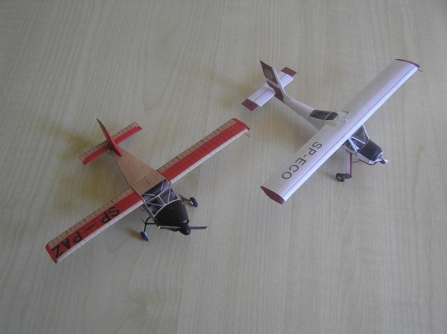PZL 104 Wilga prototype, 1/72 - PaperModelers com