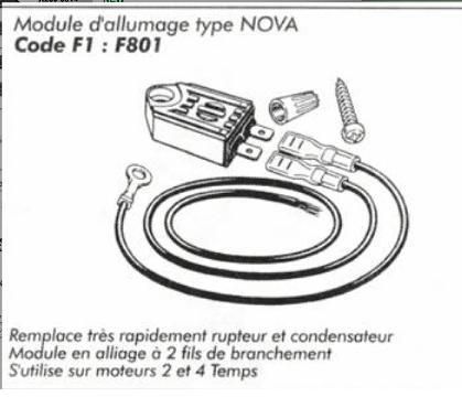 Remplacer allumage rupteur par electronique motoculteur