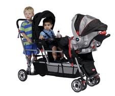 poussette double et marche pour 3 enfant. Black Bedroom Furniture Sets. Home Design Ideas