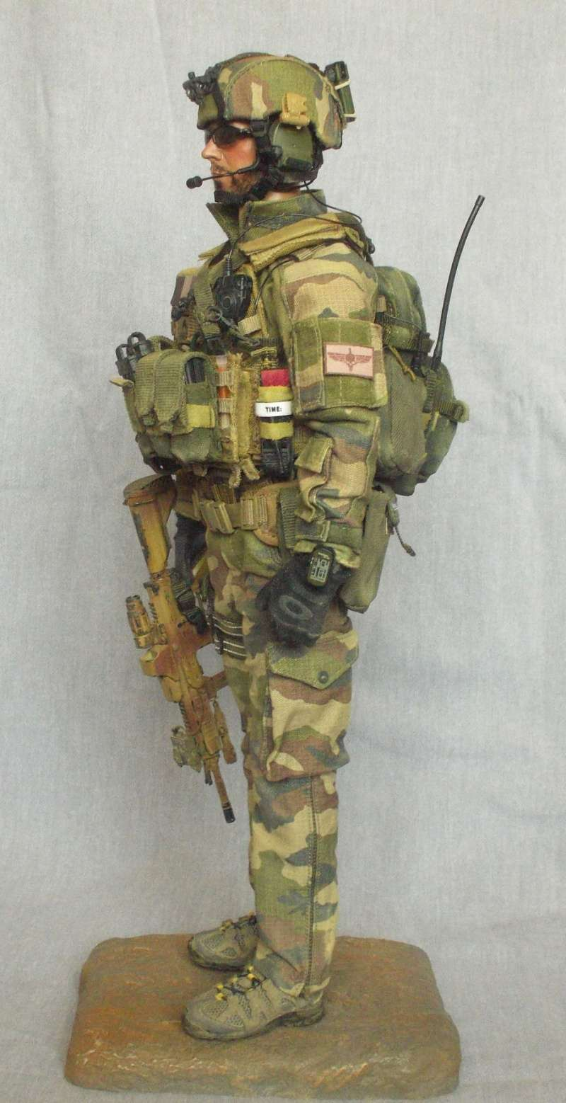 1//6 Scale Toy Radio /& Headset French Special Forces COS RPIMA Europe Centre