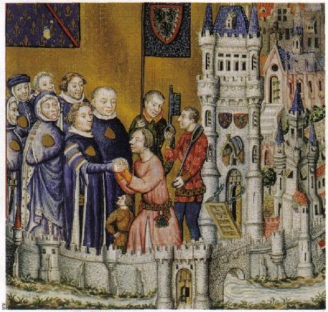 Le duc Louis II de Bourbon reçoit l'engagement du seigneur de Bulles