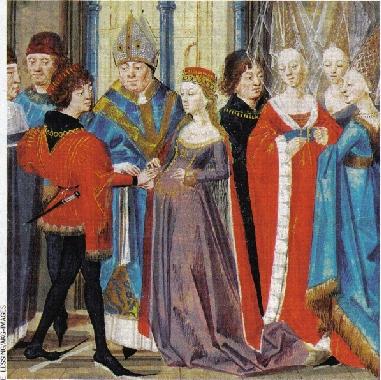 En épousant Isabelle de Hainaut, qui apporte la Flandre en dot, Philippe Auguste agrandit son domaine.
