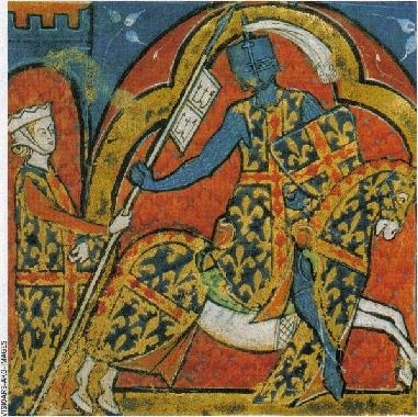 Le preux chevalier, en tenue de combat