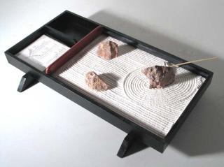 Jardin zen miniatures for Bureau japonais