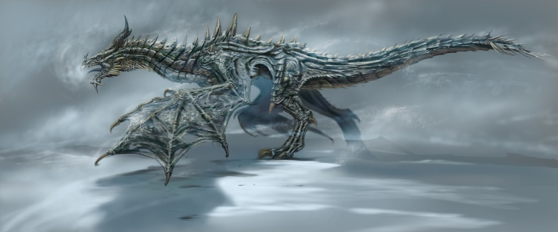 Frost Dragon from Skyrim