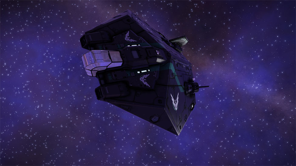 Même mon vaisseau s'est mis aux couleurs pour l'occasion