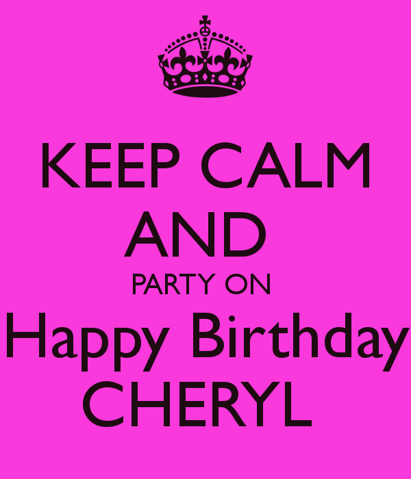 Image result for happy birthday cheryl images