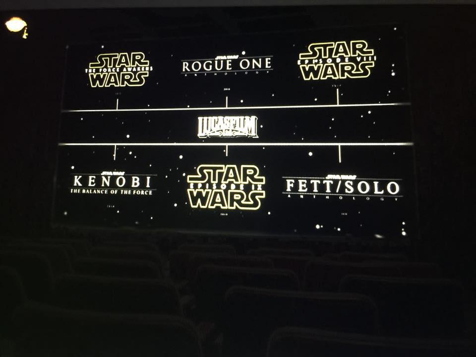 Les 6 prochains films Star Wars ont fuités