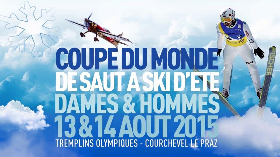 Saut à Ski Courchevel Voltige Aerienne 2015, show aerien 2015, spectacle aerien 2015
