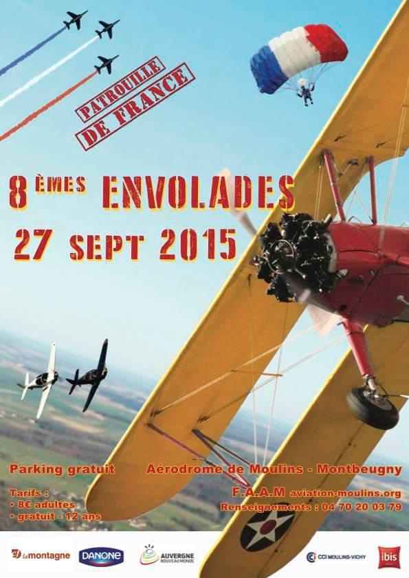 Envolades Bourbonnaises 2015, Meeting Aerien 2015, 8ieme Envolades Bourbonnaises, Moulins