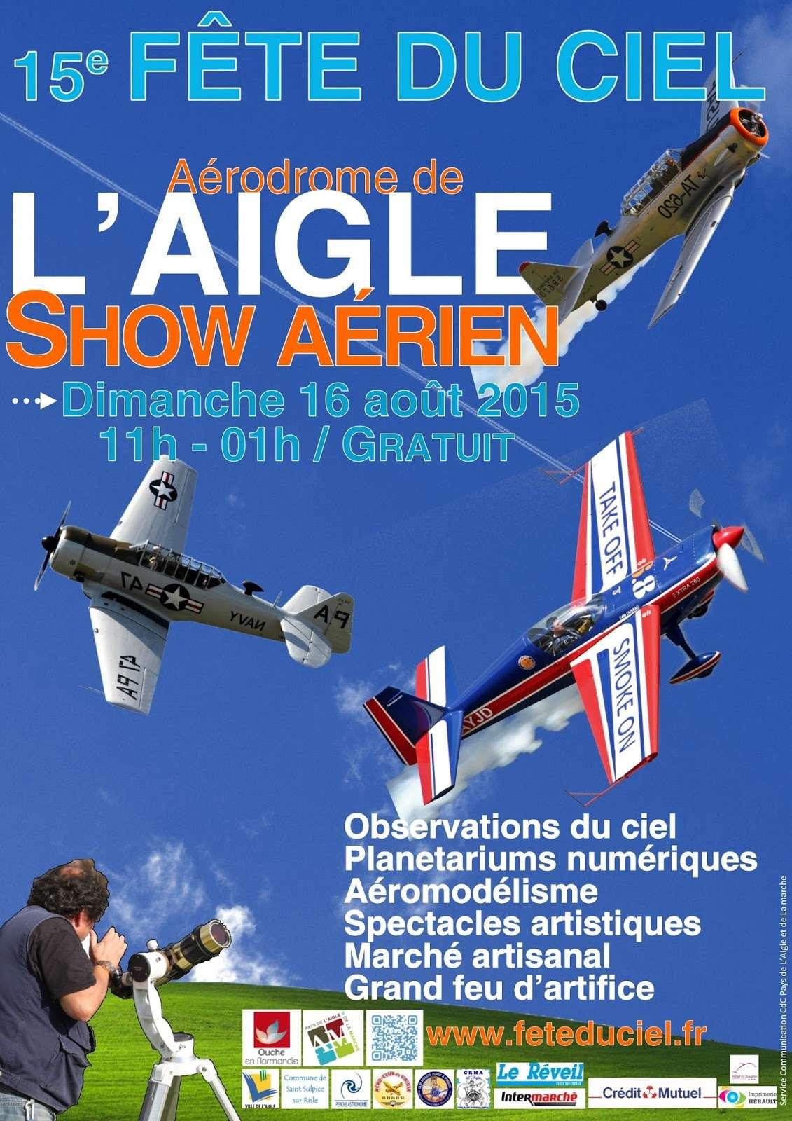 Fête du Ciel 2015, Saint-Michel, Aérodrome de L'Aigle ,Basse-Normandie, meeting aériens 2015, meeting aeriens 2015