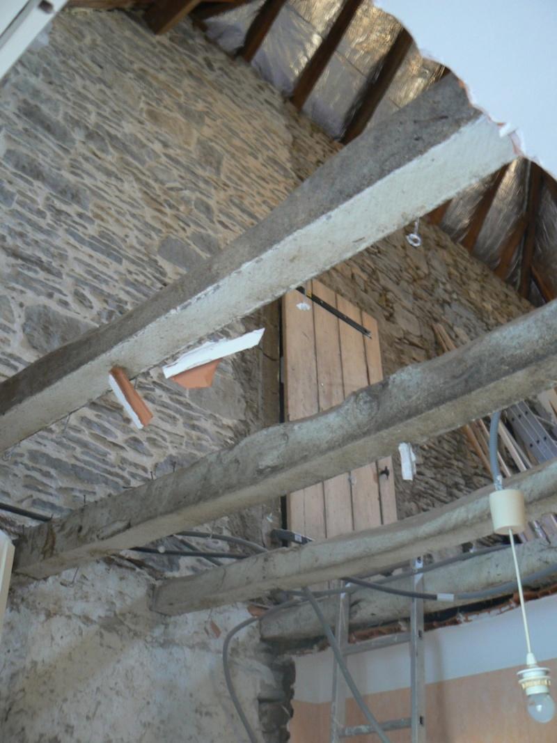Am nagement du grenier c 39 est parti - Faire un plancher beton sur poutre bois ...