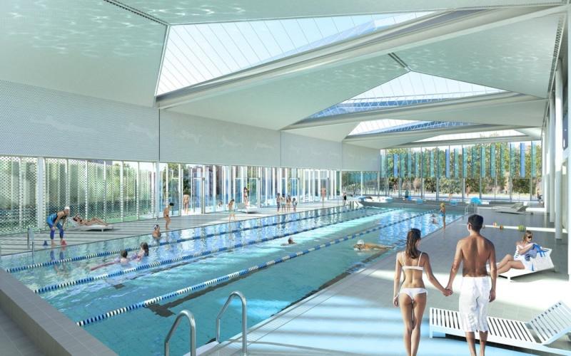 la piscine frot sera ras e et reconstruite