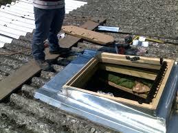 Velux sur toit en tole de fibro ciment - Pose de tuile canal sur plaque ondulee ...