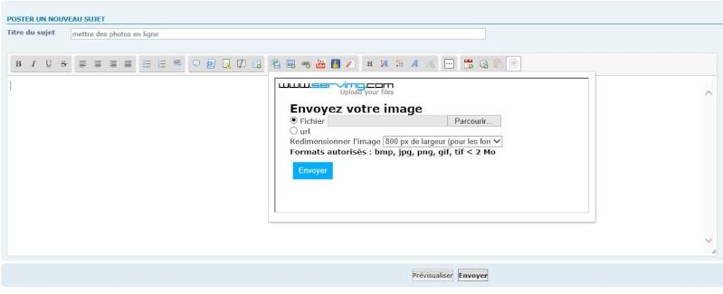 Tuto pour poster des photos sur le forum for Fenetre qui s ouvre pas