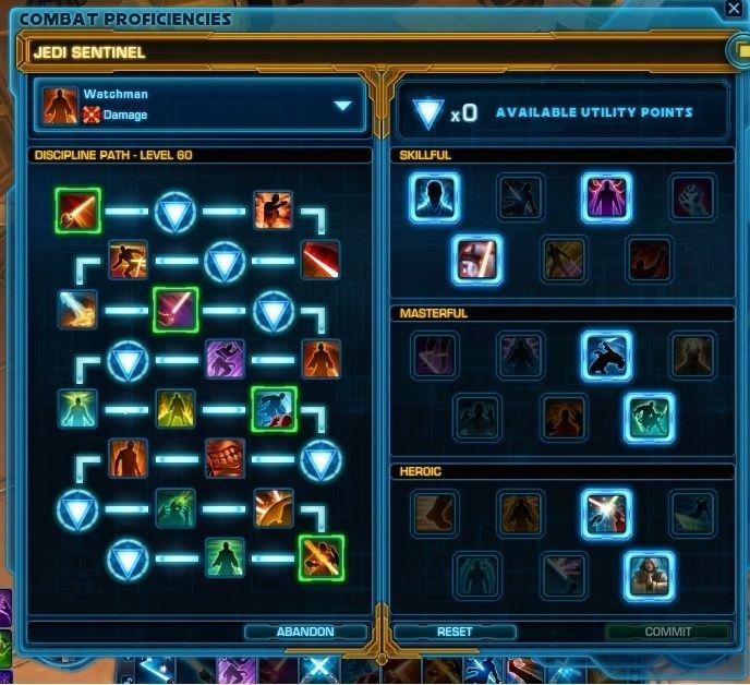 SWTOR 3.2: Watchman Jedi Knight Build & UI Layout