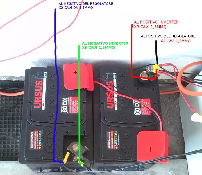 problema batterie primo impianto offgrid fai da te offgrid