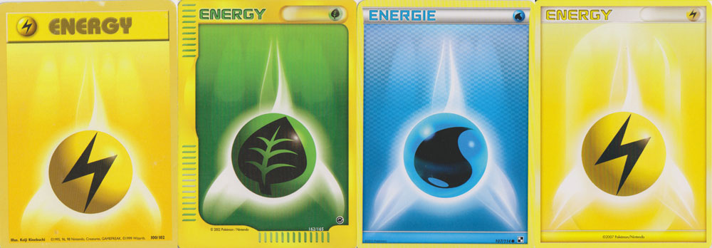 Die Pokémon Energiekarten