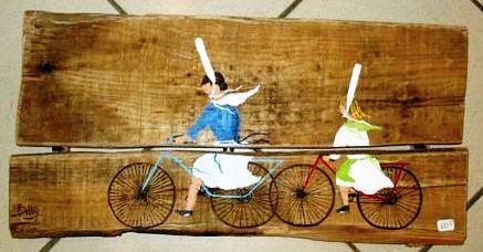 Peinture sur m tal verre bois faience porcelaine for Peintures sur bois