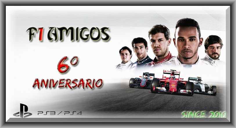 F1A-CAMPEONATOSF1AMIGOS-F1 PS3/PS4 ONLINE
