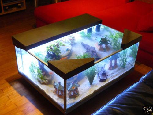 Recherche id e de meuble table basse for Aquarium cocktail table