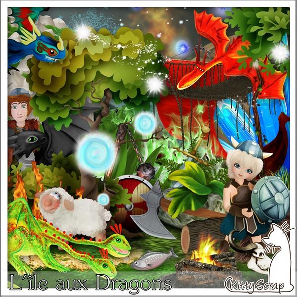 L'île aux dragons de Kittyscrap dans juin kittys29