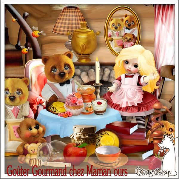 Goûter gourmand chez maman ours de Kittyscrap dans Juillet kittys38