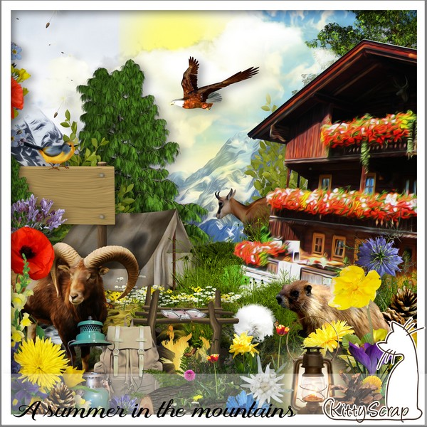 A summer in the mountains de Kittyscrap dans Juillet kittys45