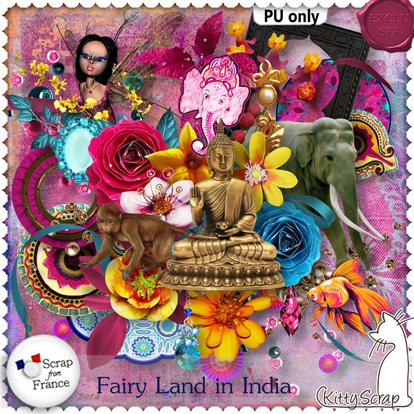 Fairy land in India de Kittyscrap dans Juillet kittys49