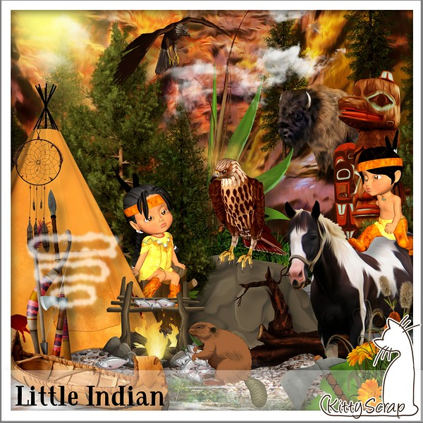Little indian de Kittyscrap dans Juillet kittys60