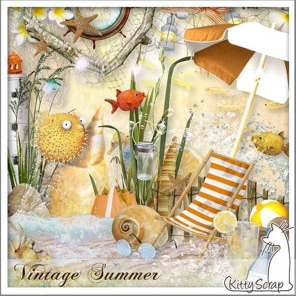 Vintage summer de Kittyscrap dans Juillet kittys73