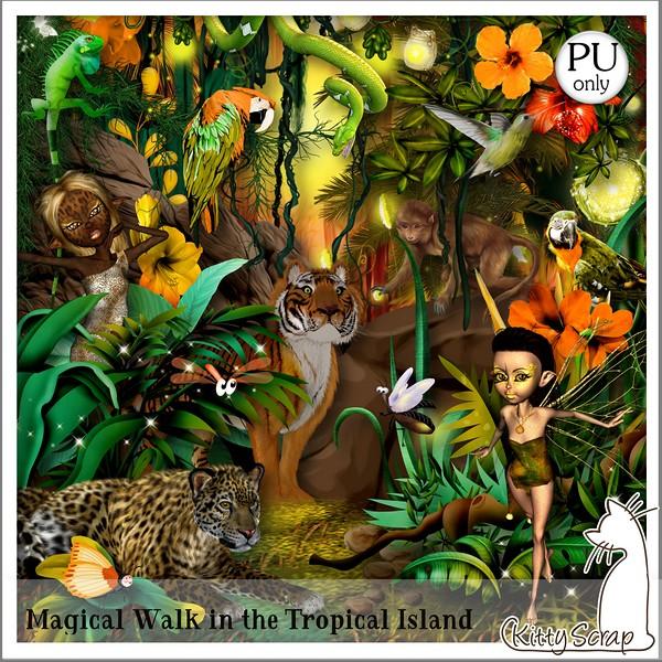Magical walk in the tropical Island de Kittyscrap dans Août kittys91