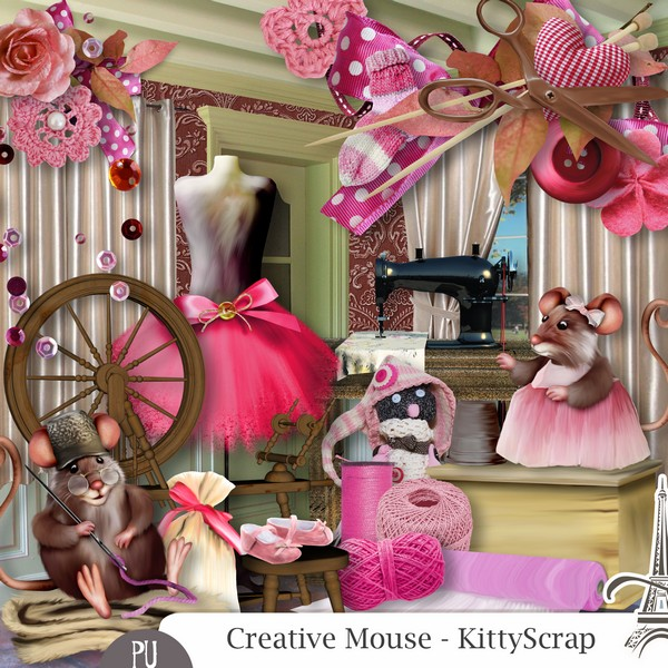 Creative mouse de Kittyscrap dans Septembre previe45