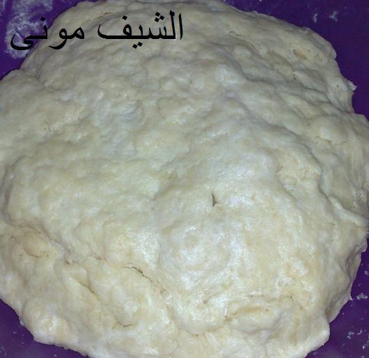 مورقه فانا عملته بعجينة الشعيبيات مكونات العجينه: كيلو دقيق 3