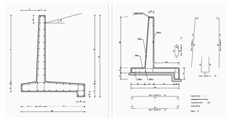 mur de sout nement en b ton. Black Bedroom Furniture Sets. Home Design Ideas