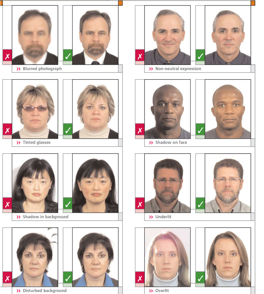 Medidas foto pasaporte canada 34