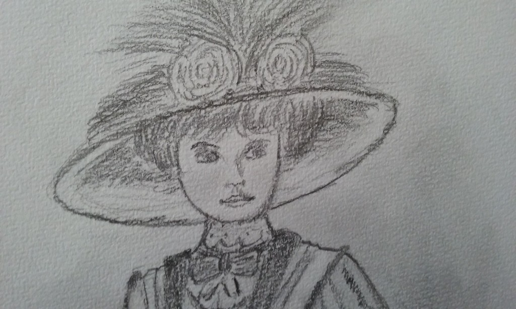dessin portrait dame