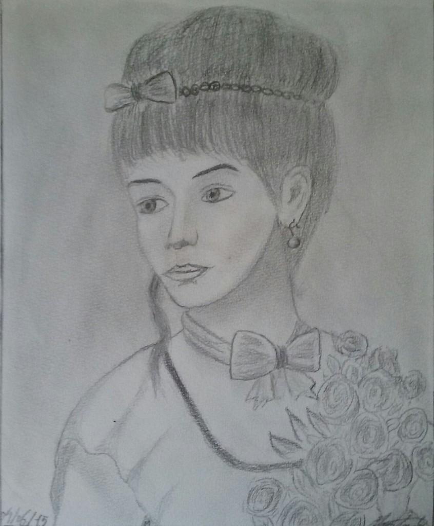 dessin jeune dame