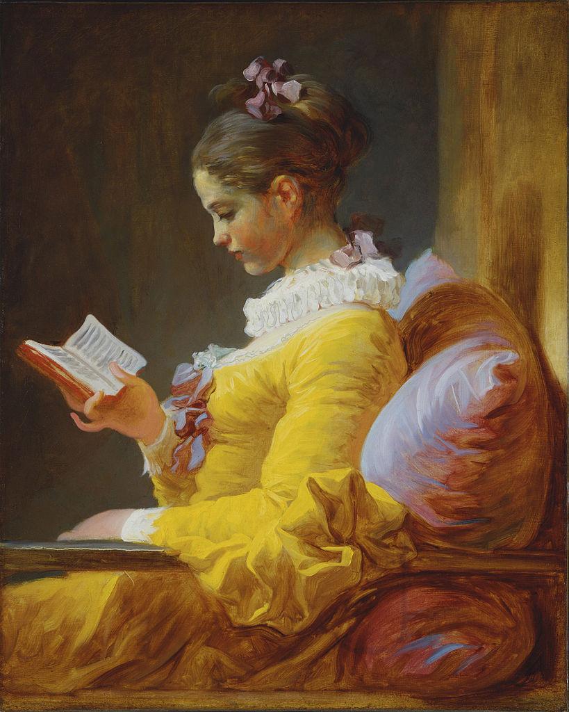 peinture dame qui lit