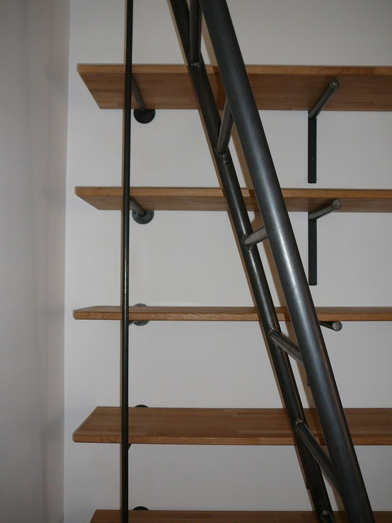 escalier b ton cir. Black Bedroom Furniture Sets. Home Design Ideas