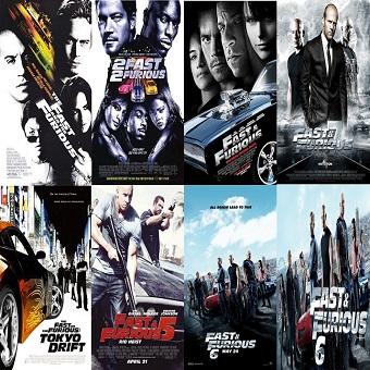 سلسلة أفلام Fast and the Furious Pack بجودة 720p BluRay