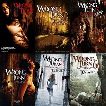 سلسلة أفلام Wrong Turn Movies Pack بجودة 720p BluRay