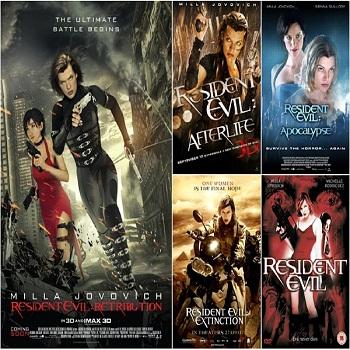 سلسلة أفلام Resident Evil Movies Pack بجودة 720p BluRay