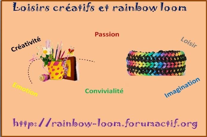 Loisirs créatifs et rainbow loom