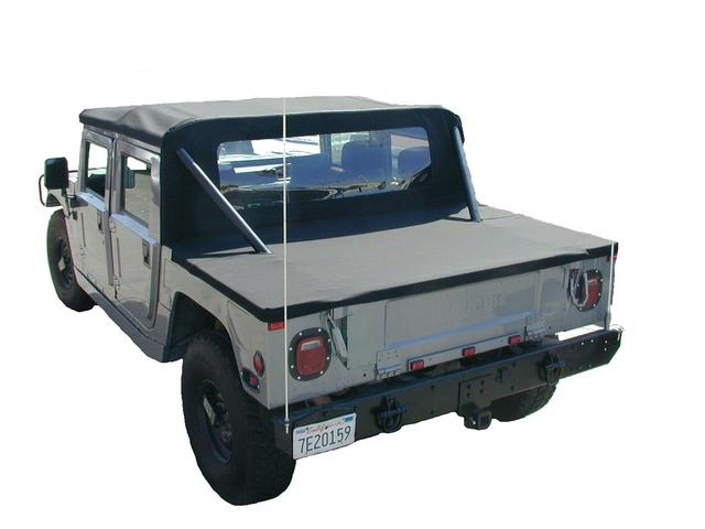 soft top hummer h1 occasion cover tonneau noir super tat. Black Bedroom Furniture Sets. Home Design Ideas