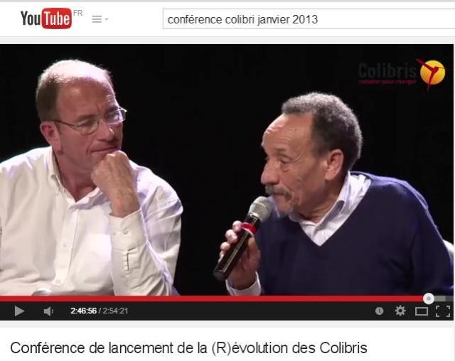 Etienne Chouard, tête de pont de toute l'extrême droite, invité à la conférence nationale de lancement de Colibri en janvier 2013.