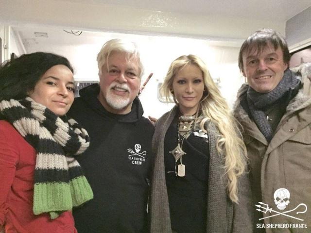 Lamya Essemlali, Paul Watson, Yana Rusinovich et Nicolas Hulot