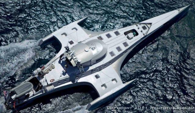Le trimaran de Sea Shepherd cofinancé par Brigitte Bardot et qui porte son nom.
