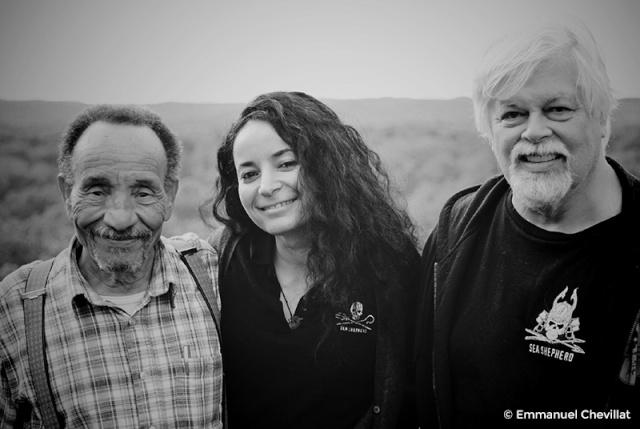 Pierre Rabhi, Lamya Essemlali et Paul Watson.
